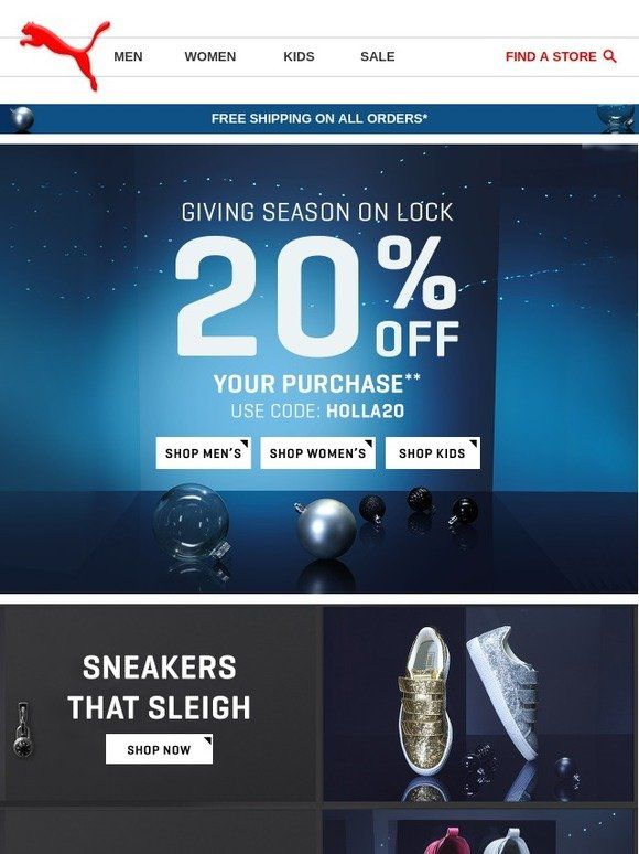 Soldado defecto Se infla  These Holiday Deals are #LIT. - Puma | Holiday deals, Kids sale, Christmas  deals