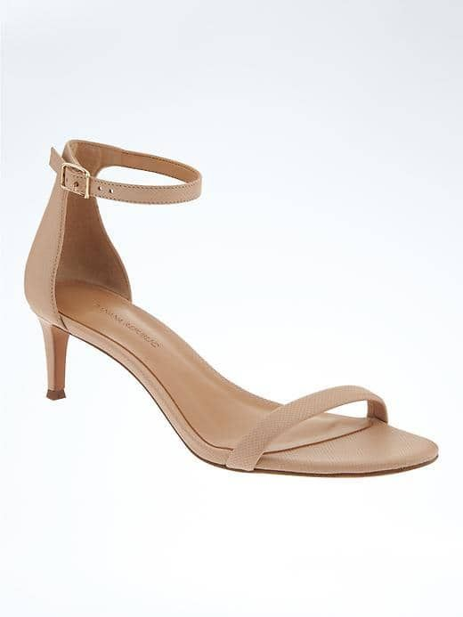 Kitten heel. Nude is so versatile. I love how elegant it is.