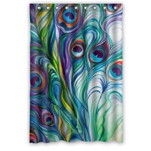 Beautiful Peacock Shower Curtain - Hotstyle Peacock Feather Bathroom Shower Curtains Polyester Waterproof 48 Wide x 72 High Flora-S-02237 http://www.amazon.com/dp/B00P66H272/ref=cm_sw_r_pi_dp_HBwPub14CJFPN