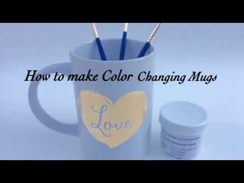 How to make Color Changing Mugs with Thermochromic Paint