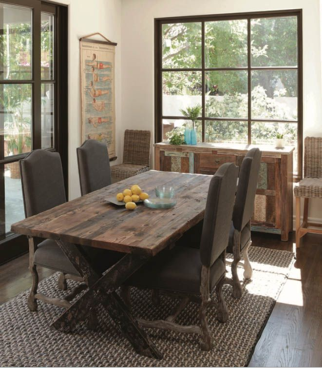 33 Elegant As Well As Elegant Kitchen Area Tables Rustic Dining