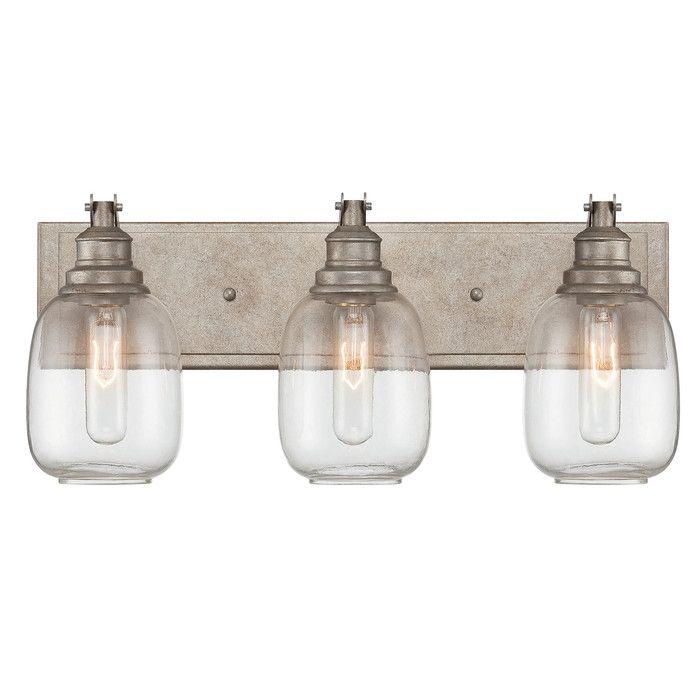 interesting bathroom light fixtures%0A Trent Austin Design Marvin   Light Bath Vanity Light  u     Reviews   Wayfair