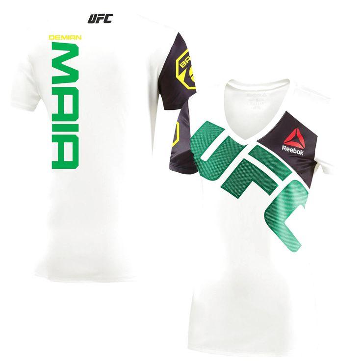 Demian Maia UFC Reebok Women's Walkout Jersey - Chalk - $84.99