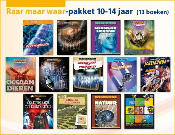 Raar maar waar-pakket 10-14 jaar (13 boeken)