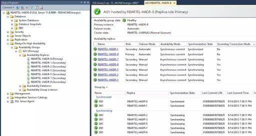 Vista de la interfaz de SQL Server 2014