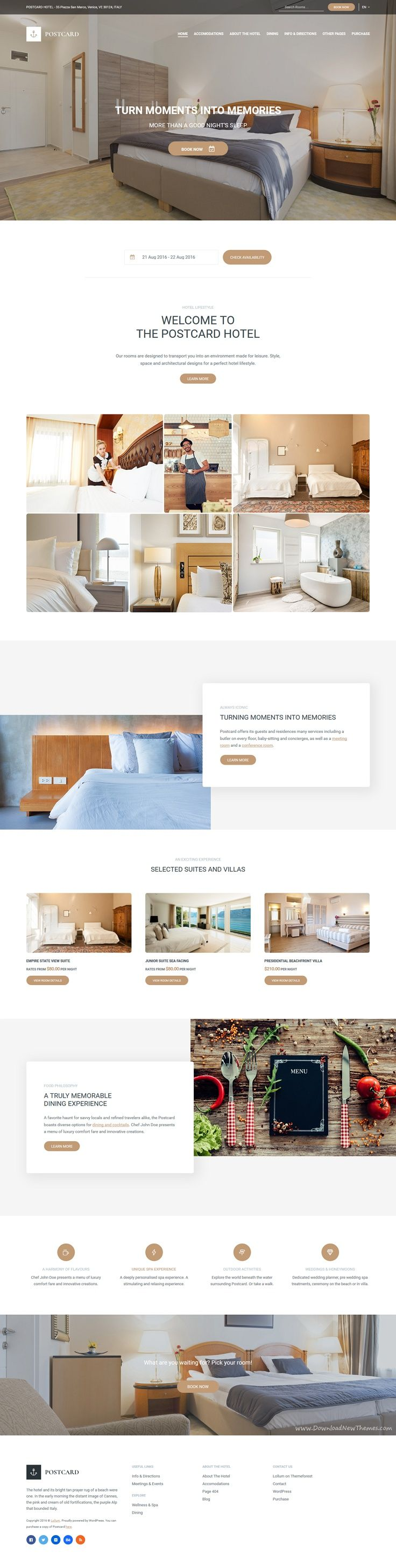 Postcard is a modern #WordPress Theme for responsive #Hotel website with a powerful #reservation system download now➯ https://themeforest.net/item/postcard-modern-hotel-wordpress-theme/16760965?ref=Datasata