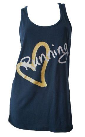 Running Inspired Apparel by Endure Endure Love Running Tank Navy #runner #gifts #top