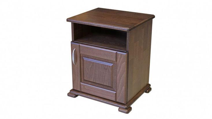 dió színű bükkfa éjjeli szekrény