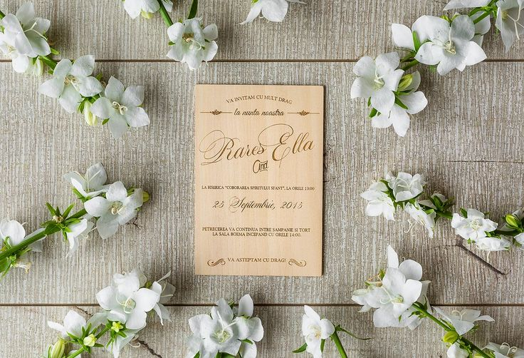 We love to create beautiful handcrafted wood wedding invitations from special materials like wood.