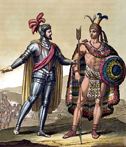 Ninth Aztec emperor of Mexico, famous for his dramatic confrontation with the Spanish conquistador Hernán Cortés. In 1502 Montezuma succeeded his uncle Ahuitzotl as the leader...