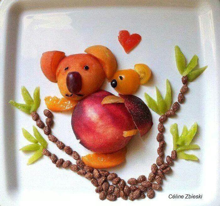Pour faire manger des fruits à nos bambins !
