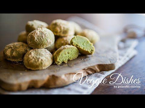 混ぜて焼くだけ!抹茶ときなこのスノーボールの作り方How to make Matcha and Kinako Snowballs | Veggie Dishes by Peaceful Cuisine - YouTube