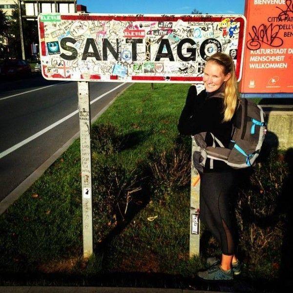 Equipaje para el Camino de Santiago.