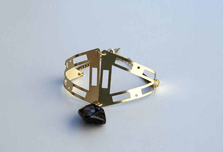 Raw Brass Cuff Bracelet With Black Natural Stone, Bohemian Bracelet https://www.etsy.com/listing/190378225/raw-brass-cuff-bracelet-with-black?ref=shop_home_active_3