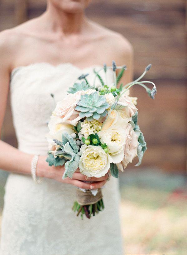 succulent wedding bouquet // photo by Shipra Panosian // view more: http://ruffledblog.com/intimate-st-augustine-wedding
