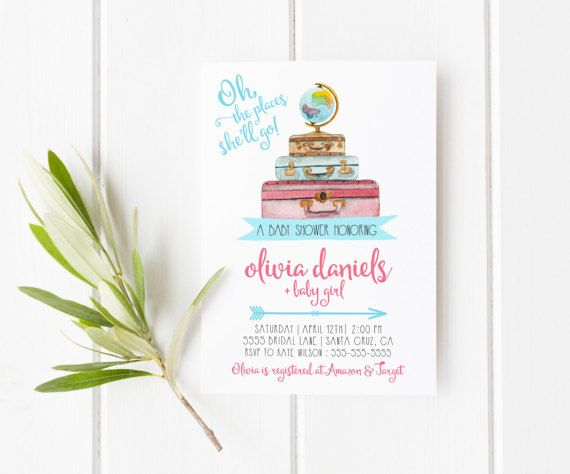 Travel Baby Shower Invitation Adventure baby shower perfect for travel theme bay shower! Click to see more invitations by lovelypapershop