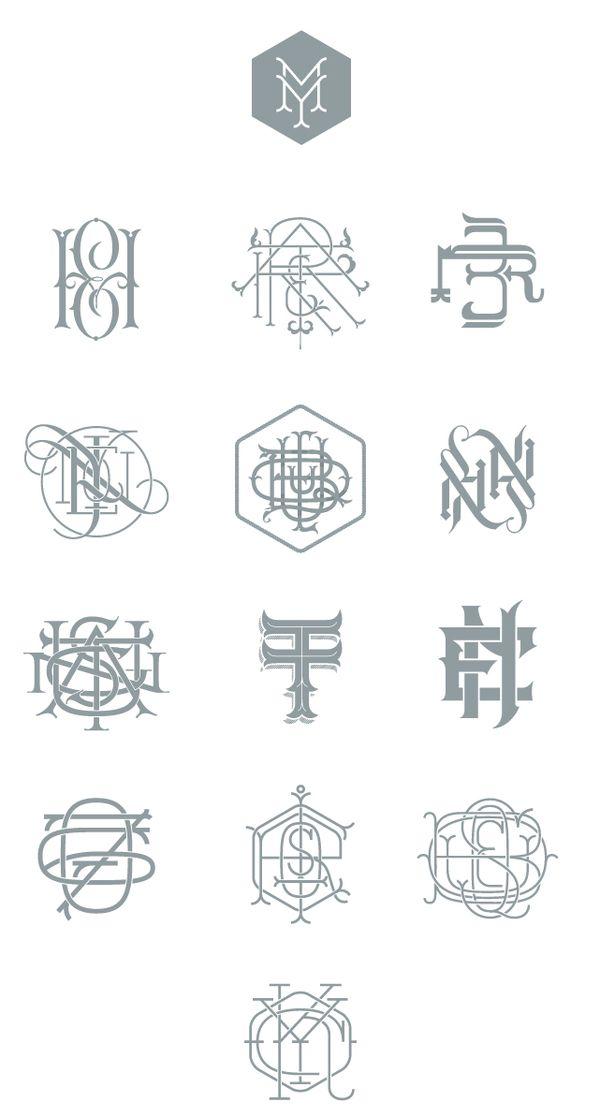 Types & Monograms by Jorge Mercado, via Behance