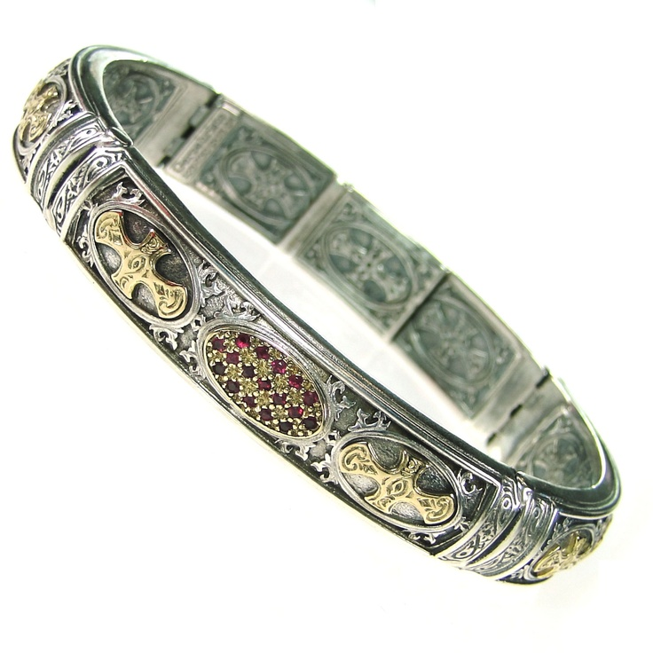 Gerochristo Bracelet Sterling Silver and Gold 18-karat  Made in Greece