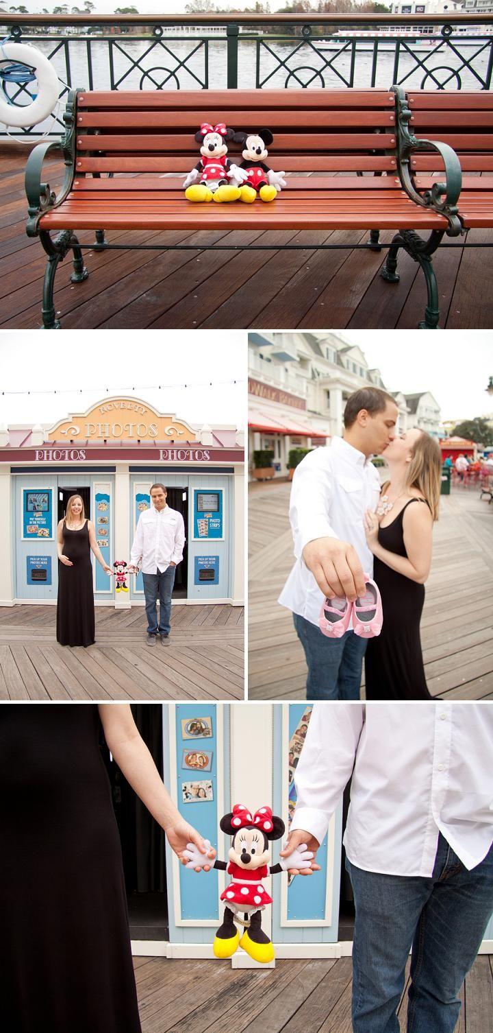 Gender Reveal at Disney's Boardwalk • Bummed Bride . . . #disneybaby #disneylovers #disneycouple #genderreveal #itsagirl