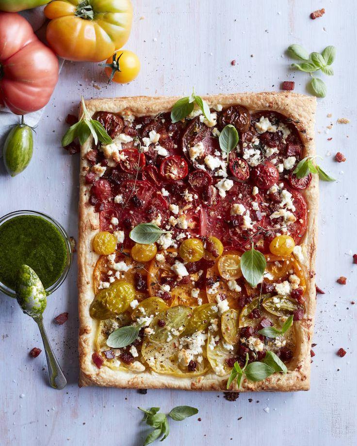 Heirloom Tomato Tart Recipe Goat Cheese Salts And