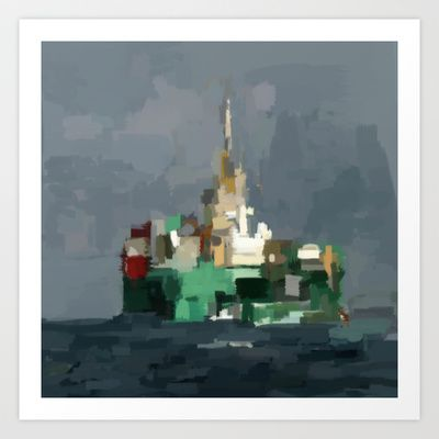 Crude Oil Painting Of Christmas