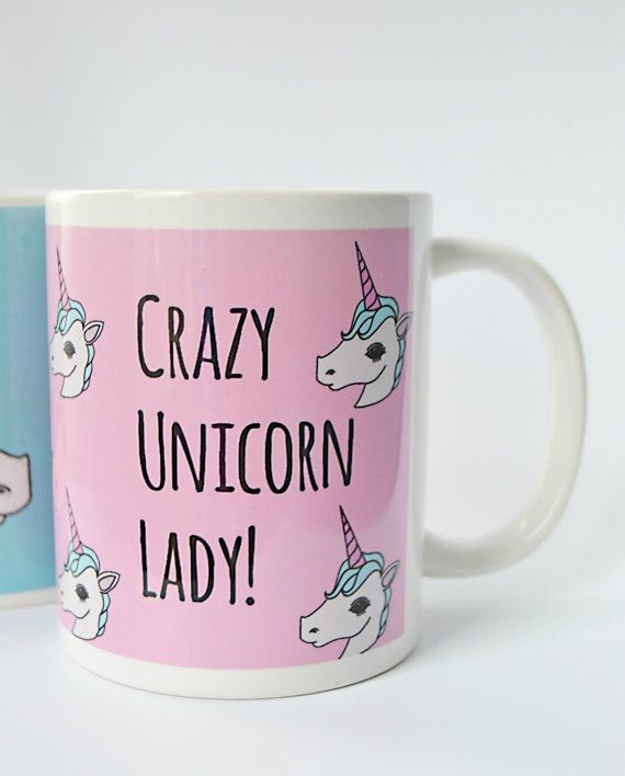 Crazy Unicorn Lady // Illustrated Unicorn by Lazylinepainterbelle