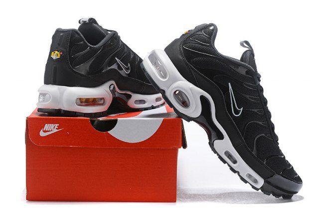 size 40 b7e33 1348b Interesting Nike Air Max Plus SE TN Sneakers Tuned 1 Taped Pull Black White  AQ4128 001 Men s Running Shoes
