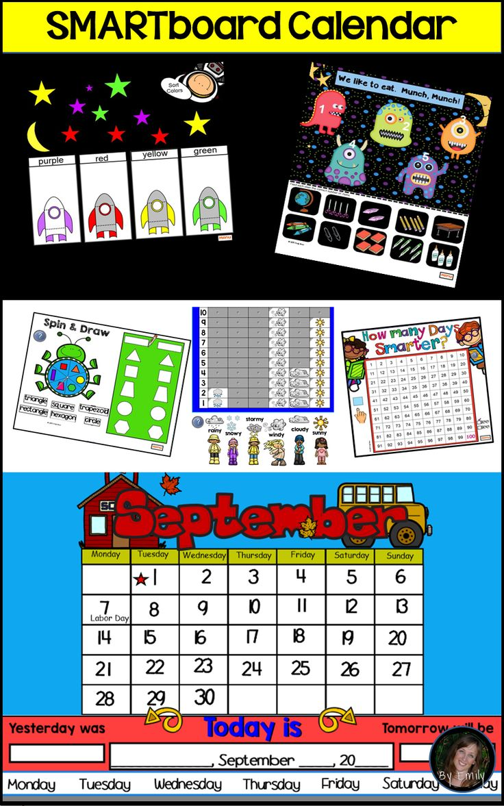 Kindergarten Daily Calendar Smartboard : Best kindergarten calendar activities ideas on