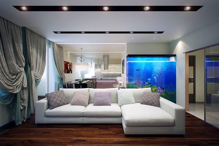фотографии аквариум в гостиной фото дизайн шедевр отечественного кинематографа