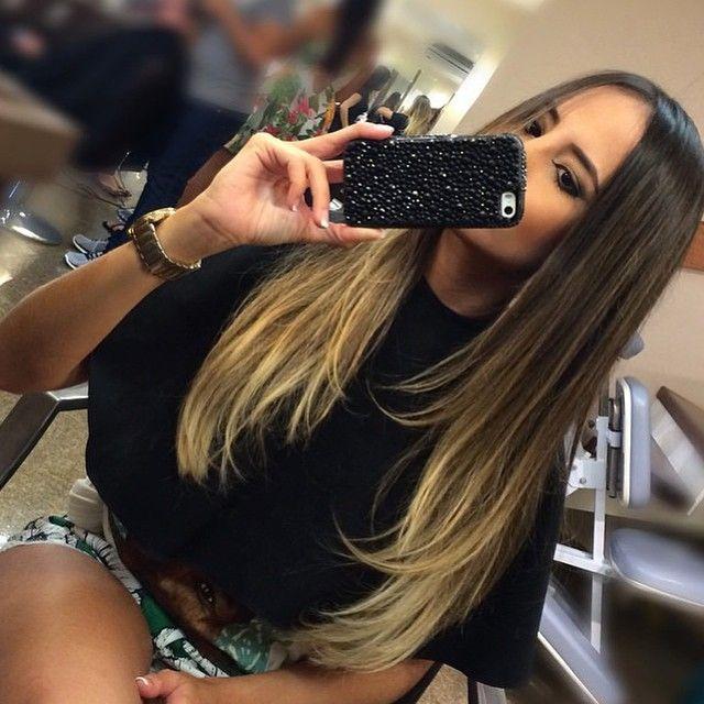 #ShareIG Lindo HAIR de uma morena iluminada @femarquesblog pelo cabeleireiro aqui do salão @mariuhenriq