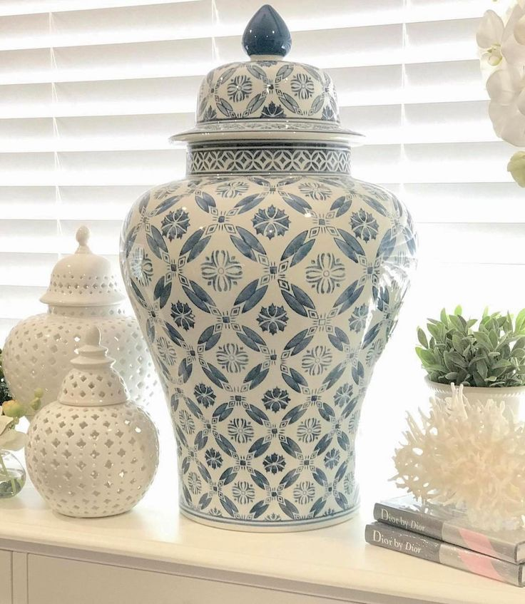 """104 Likes, 6 Comments - LUXE FURNITURE & HOMEWARES (@luxe_furniture_and_homewares) on Instagram: """"This magnificent blue & white ginger jar is back in stock! You'll need to be quick it previously…"""""""