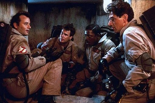 Bill Murray, Dan Aykroyd, Ernie Hudson & Harold Ramis in #Ghostbusters (1984)