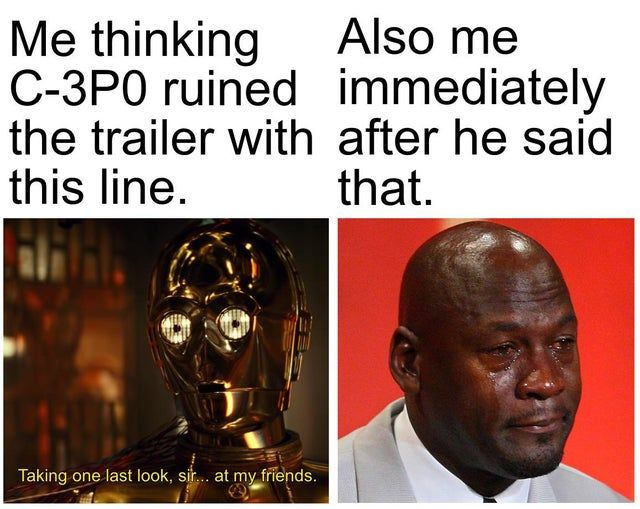 Star Wars The Rise Of Skywalker Memes That Are Making Us Cry 28 Memes Funny Star Wars Memes Star Wars Theories Star Wars Humor