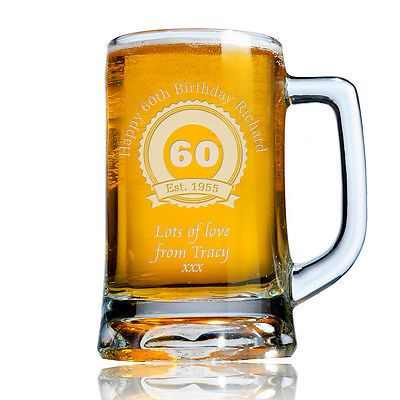 #Personalised engraved beer pint glass #tankard 60th 70th 80th #birthday gift box,  View more on the LINK: http://www.zeppy.io/product/gb/2/221827461030/