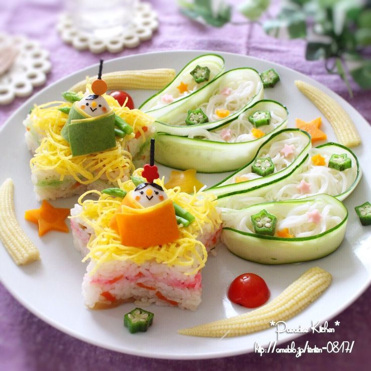 手作り型と頂き物で♡星に願いを☆彡七夕ちらし寿司&素麺プレート