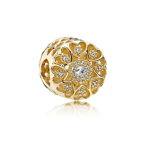 Pandora Valentines Day Hearts Of Gold Charm UK Sale Discount U2013 Pandora  Jewerlly Store