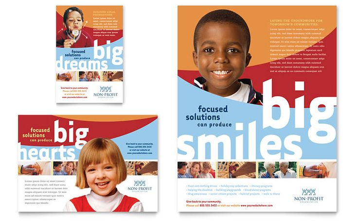 Community Non Profit Flyer & Ad - Microsoft Word Template & Publisher Template