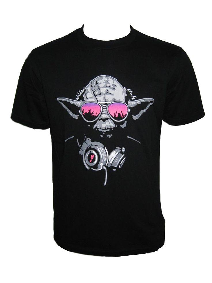 Dj Yoda T Shirt Club Rave Retro Vintage Jedi Master Persiflage