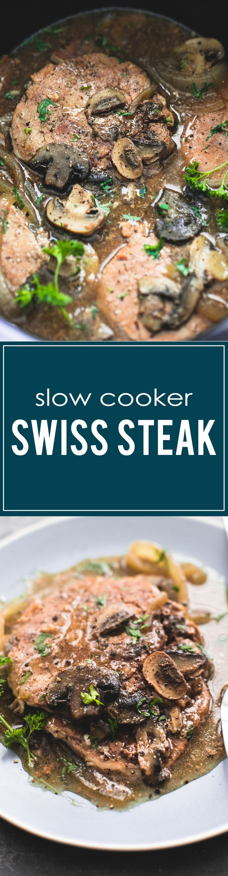 Slow Cooker Swiss Steak | lecremedelacrumb.com