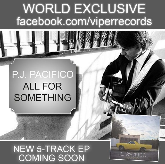 P.J. Pacifico - All For Something #EP #new #song #pjpacifico #singer #songwriter #music