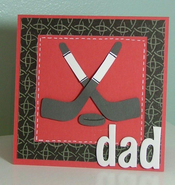 Hockey dads day card