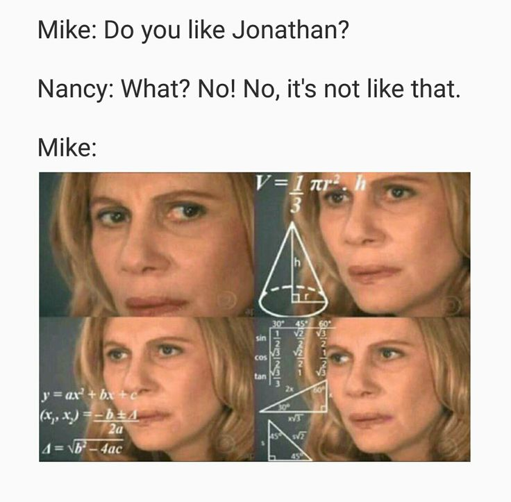 Stranger Things memes - Mike and Nancy Wheeler (talking about Jonathan Byers)