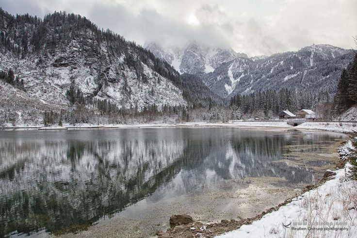 Snowy Hallstatt in the Gosau Region in Austria @rchircop.com. Fine Art Prints