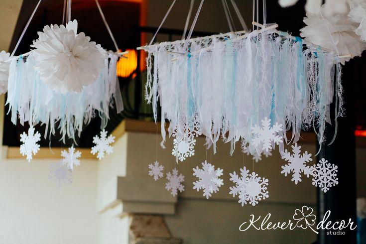 Подвесной декор на праздник, снежинки из бумаги