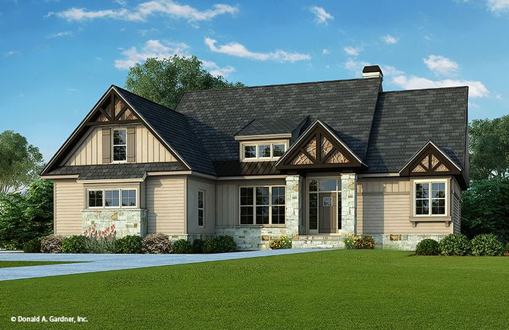 Exterior House Plan The Foxford By Donald A Gardner