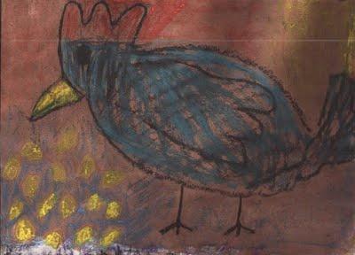 Kickcan & Conkers: Children's artwork #3 - ça roule ma poule