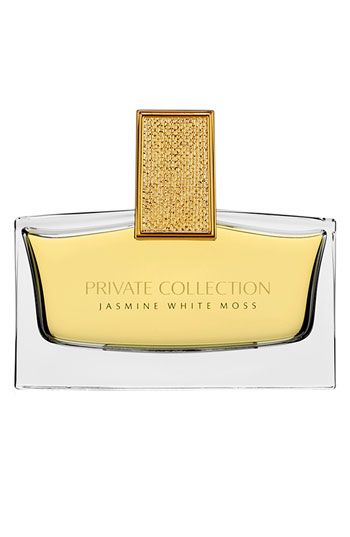 Estée Lauder 'Private Collection - Jasmine White Moss' Eau de Parfum | The third fragrance created by Estée Lauder's granddaughter, in an eau de parfum spray. A fresh, vibrant, sparkling scent, with an opulent white bouquet surrounded by delicate moss, rich woods and pure natural fragrance absolutes. The cap is a work of art, with a hammered-gold texture.