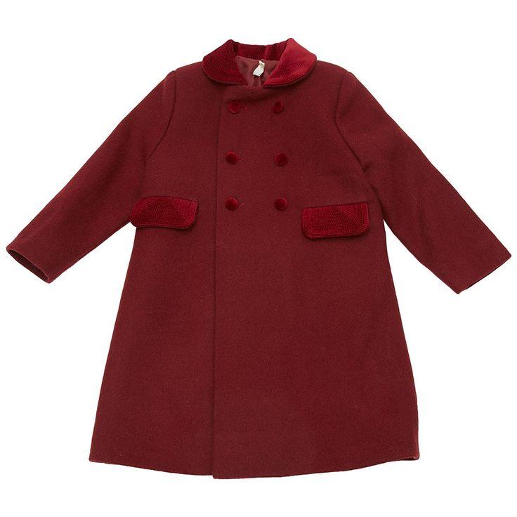 Classic wool coat - Burgundy