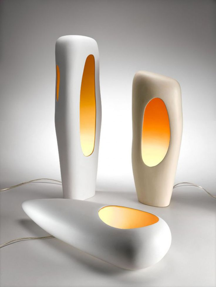 Mamati Present Contemporary Lamp With Unique Design Fresh Orange Color  Makes The Modern Ceramic Lamps Looks