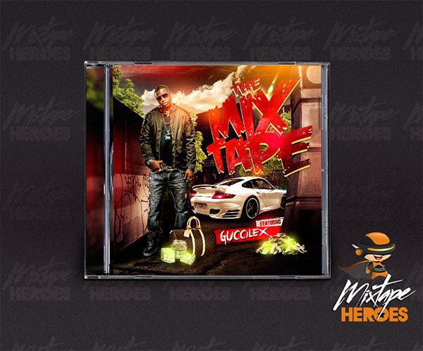 guccilex mixtape cover free psd photoshop mixtape cover template